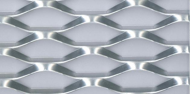aluminium déployé, maille PRATER, métal étiré aluminium
