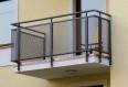 garde corps en métal déployé, balcon ajouré