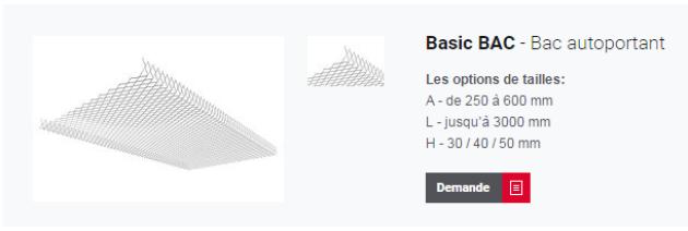 Basic BAC pour plafond métallique