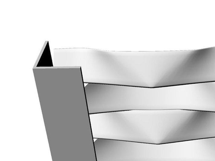 cornière L sur panneau metal deployé