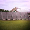 barrière anti souffle en métal déployé