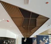 faux plafond métallique, plafond perforé, sous-face métal, plafond métallique acier