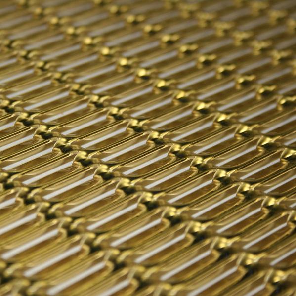 metal deploye Laiton, métal déployé en Bronze, expanded brass, grille laiton, maille architecture laiton