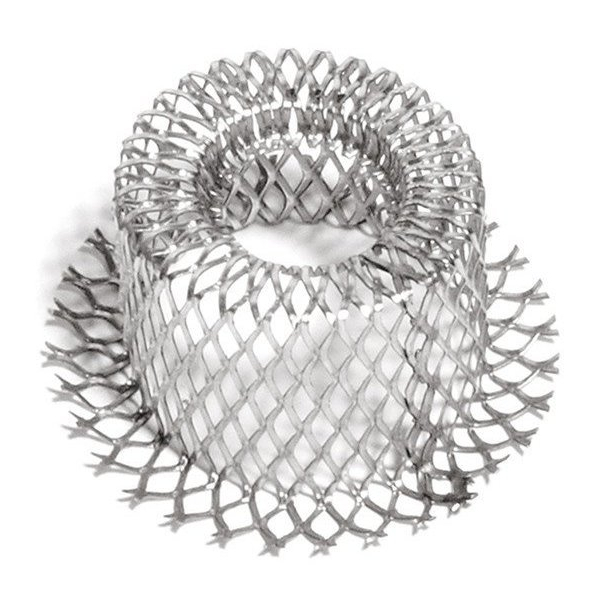 pièce filtrante en métal déployé, filtre embouti, maille losange, metal deploye etire inox