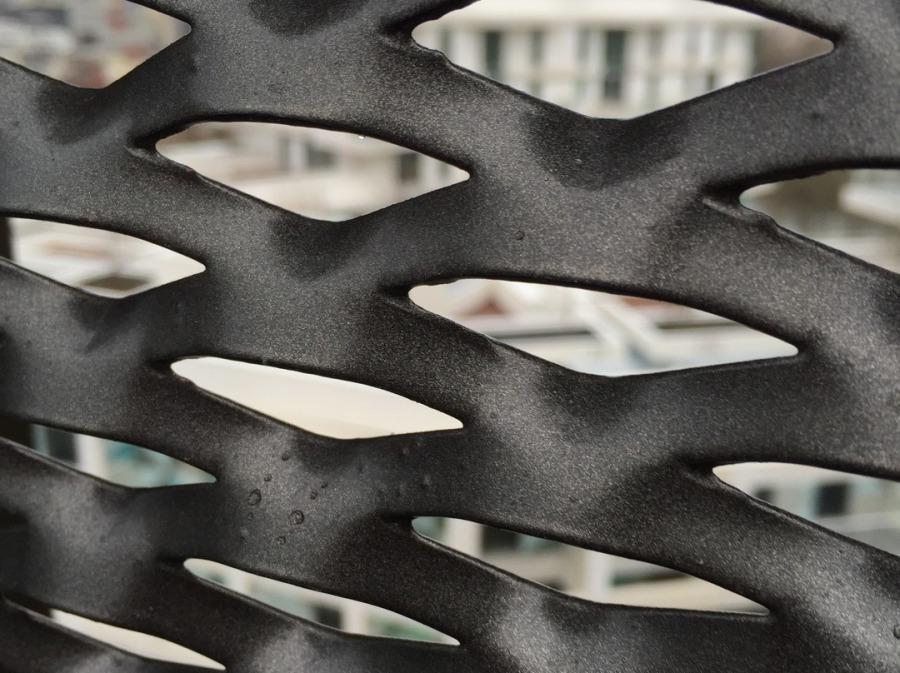 metal deploye acier galvanise thermolaque, maille metal galva + RAL, metal deployé acier galva