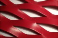 métal déployé laqué rouge, métal déployé inox poli mirroir
