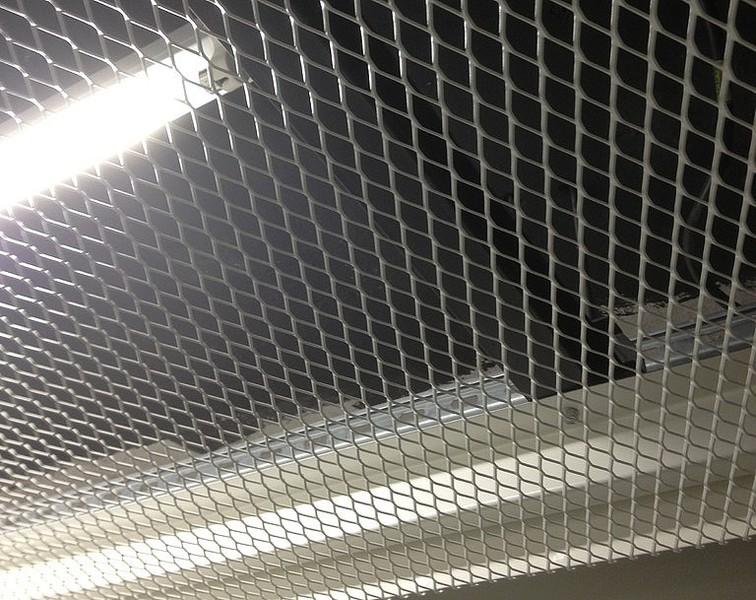 Utilisation En Plafond Métallique Métal étiré Tissé Solutions