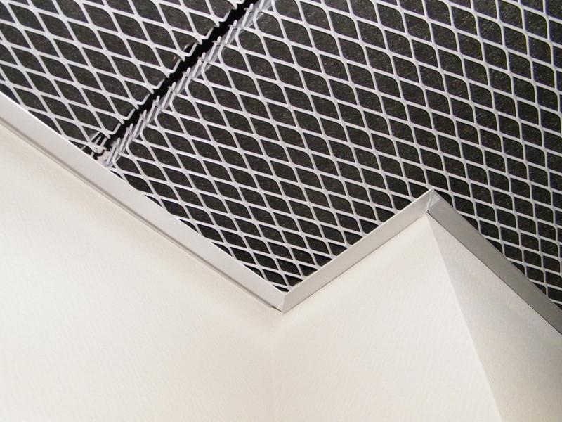 Notre s lection de mailles pour plafond suspendu et faux plafond m tallique en m tal d ploy - Faux plafond resille metallique ...