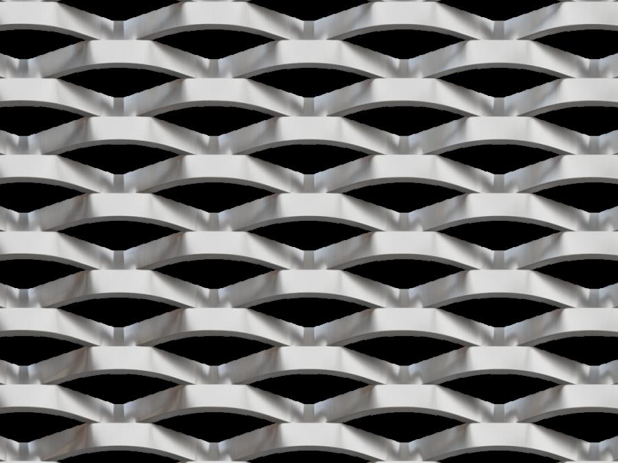 metal deploye aluminium MALIBU, metal étiré LD62x25, maille métallique, maille acier alu ou inox