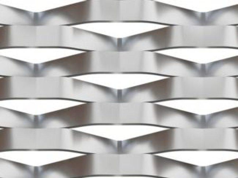 metal deploye marianitech RAVAL, maille 110x50, metal etire losange, maille métallique