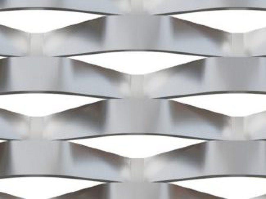 metal deploye 150x56, maille metal aluminium, metal deploye acier, métal étiré inox, garde-corps maille