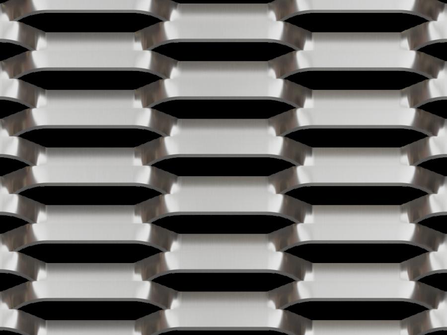 metal deploye 200, maille BROADWAY deployée, métal etire 200x80, facade maille metal, brise soleil aluminium