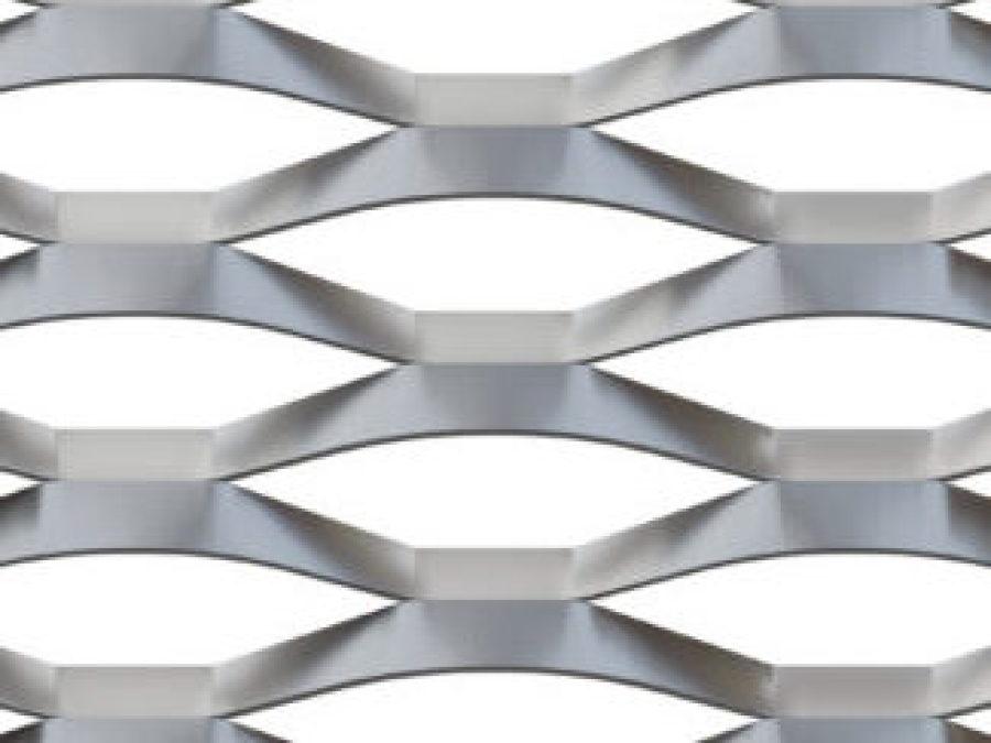 metal deploye 200x80, maille perfore alu, metal etire marianitech, Jerez xs deploye, facade perfore maille