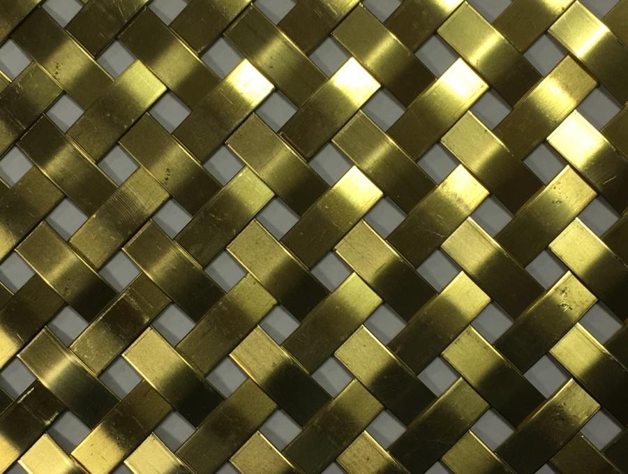 stripes, toile métallique, luxe, laiton