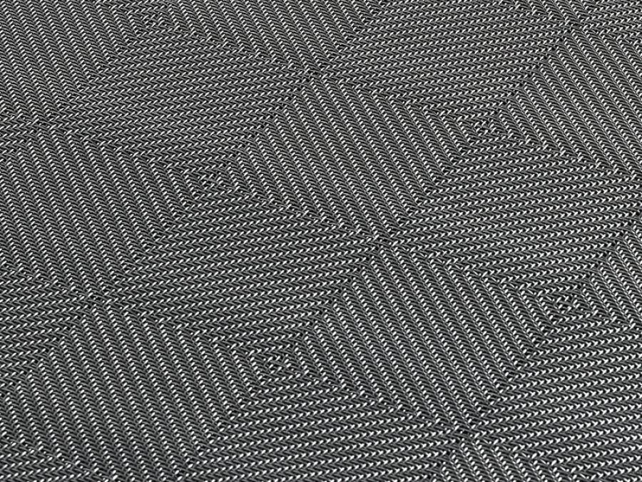 tweed, toile métallique, acier