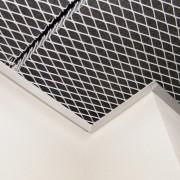 bac métallique plafond aluminium